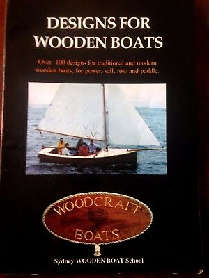 Aust DESIGNS FOR WOODEN BOATS: OVER 100 DESIGNS Woodwork Crafts Hobbies s/c