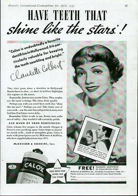 Claudette Colbert Hollywood Movie Star 3 1937 & 1948 ads for Lux & Max Factor