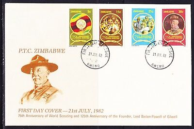 Zimbabwe 1982 Scouting 75th Anniversary First Day Cover - Circular Cancel