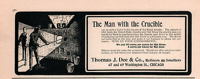 1900 Ad  Thomas Dee Co Crucible Smelter