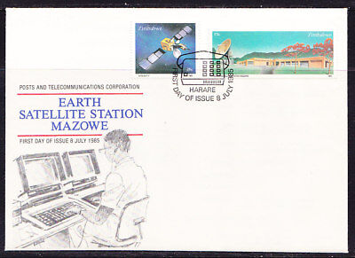 Zimbabwe 1985 Earth Satellite Station First Day Cover - Pictorial Cancel