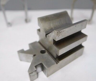 FISH TAIL V-BLOCK with 2 CLAMPS milling grinding machinist tools