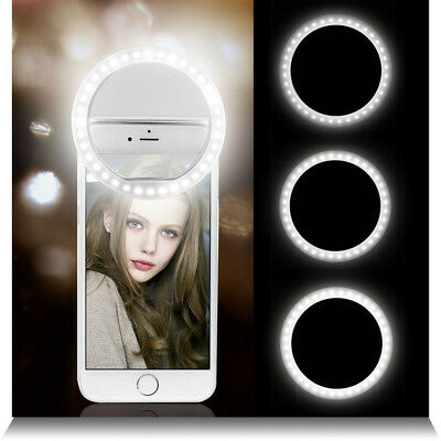 Portable Mobile Phone Camera Selfie 36 LED Ring Flash Fill Light Clip for iphone