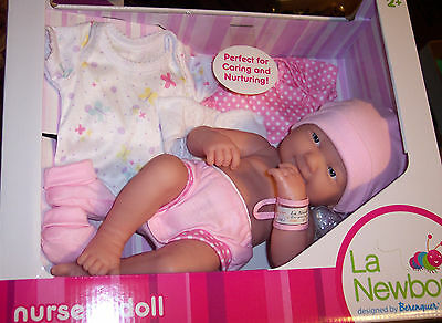 "NEW  La Newborn Baby Doll Full Vinyl Berenguer doll 14"" Smile For Reborn NIB"