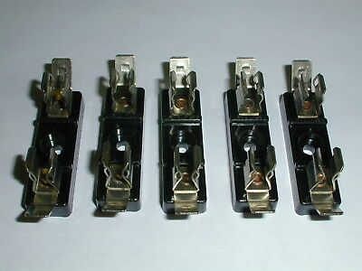 357201 Littelfuse Fuse Block 1 Pos For 3AG with 1/4QC Terminal 1/2X1-5/8 5 each
