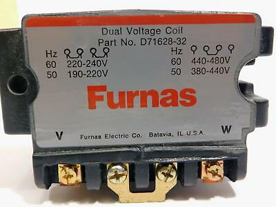 Furnas Dual Voltage Coil D71628-32 60Hz 220-220V 50Hz 190-220V 60Hz 440-480V NIB