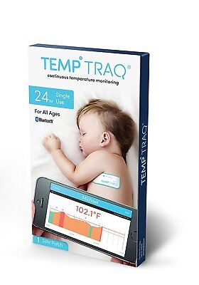 New Temp Traq 24 Hr Single Use Patch Expires 09/2018 Temperature Fever Monitor