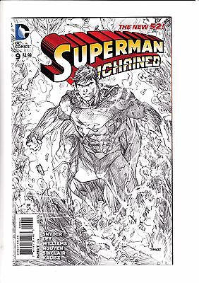 SUPERMAN UNCHAINED #9, JIM LEE 1:100 SKETCH VARIANT, New, DC NEW 52 (2014)