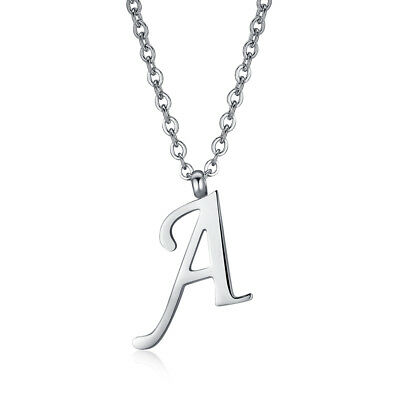 Quality TT 316L Stainless Steel Inital Letter A Pendant Necklace (NP355A) NEW