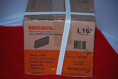 "1Cs.5/8"" (1/4"" Crown) L/90 Series Galvanized 18 Gauge N.C Staples 12 Boxes/Cs"
