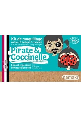 Kit maquillage bio 3 couleurs pirate et coccinelles