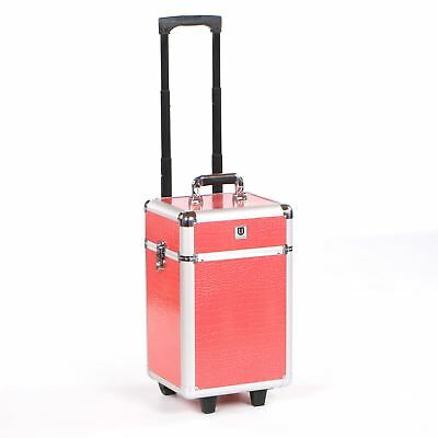 Cosmetic makeup nail hairdressing beauty vanity hair trolley case box storage P