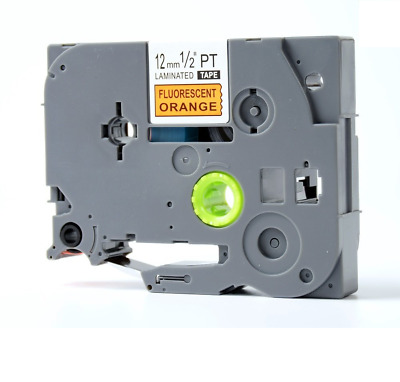 Compatible Brother TZE-B31 Black on Fluorescent Orange 12mmx8m PTouch Label Tape