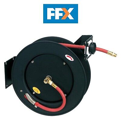 Sealey SA841 Retractable Air Hose Metal Reel 15mtr Ø10mm ID Rubber Hose