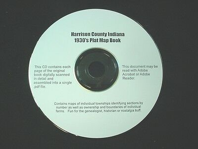 CD ~ 1930's Harrison County Indiana Plat Map Book