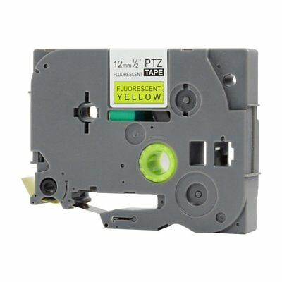 Compatible Brother TZE-C31 Black on Fluorescent Yellow 12mmx8m PTouch Label Tape