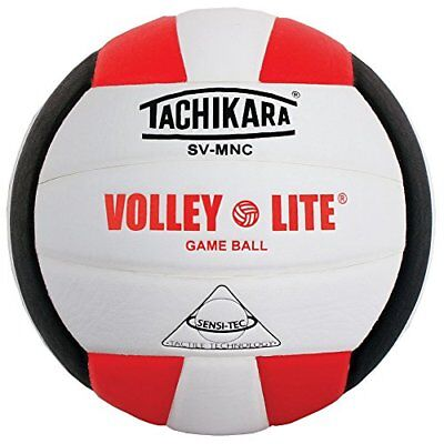 ❤ Tachikara Sv-Mnc Volley-Lite Volleyball With Sensi-Tech Cover Regulation Size