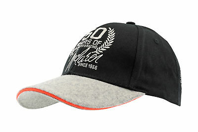 Team Member Cap McLaren 50 Years of Grand Prix Racing 2016 schwarz / grau / oran