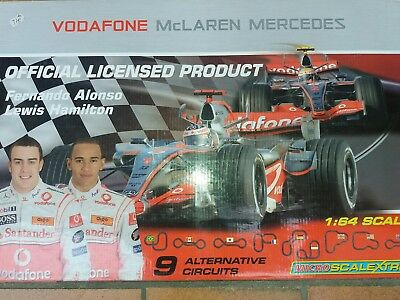 "Scalextric 1:64  Rennbahn ""Mercedes Mc Laren"" RACE SET NEU OVP MINT BOXED"