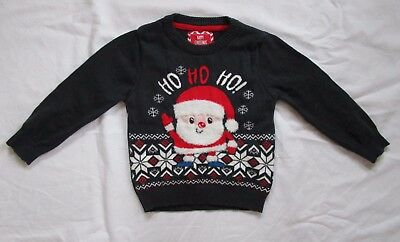 Baby Boys Christmas Santa Jumper Sweater Age 12-18 months from Mini Rebel