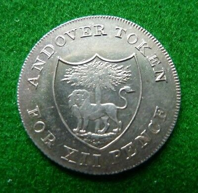 1811 Andover Silver One Shilling Token - Ws & I Wakeford - Vf