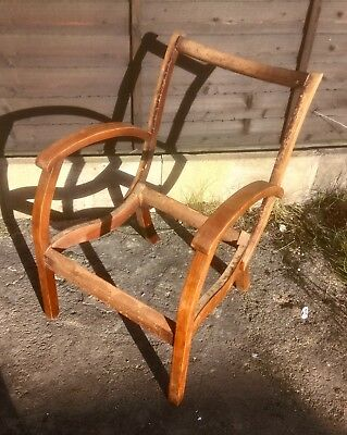 Vintage Wooden Chair Frame For Restoration And Reupholstery