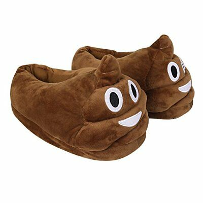 Cute Soft Plush Poop Emoji Slippers