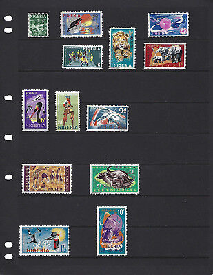 British Colonies-Nigeria-1965-Set With High Denominations-Mint-