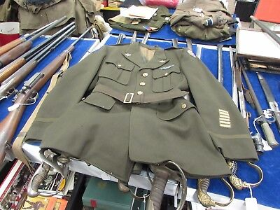 WWII U.S. Army Air Corps 8th AF pilot tunic with wings and belt . MK214