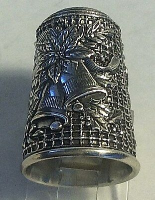 Franklin Mint 1983 Limited Edition Sterling Silver Christmas Bells Thimble