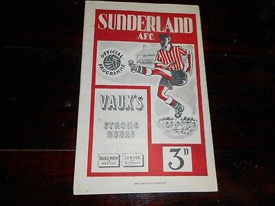 SUNDERLAND   v  NORWICH CITY ( 1st EVER AT SFC )  1950/1 F A CUP 5th ~ JAN 6th