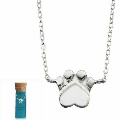 """Kohl's 16-18"""" Sterling Silver DOG PAW Print Pendant Charm Necklace Animal NEW!!!"""