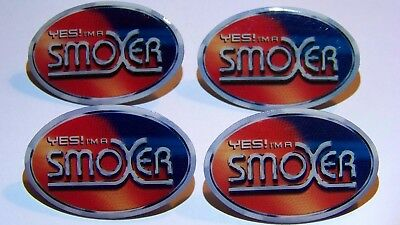 4 Buttons YES! I'M A SMOKER  PIN Anstecker