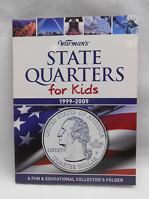 State Quarter Coin Collecting Album Folder for Kids