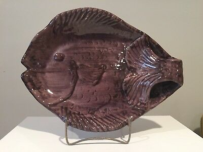 Vintage Stangl Terra Rose Large Art Pottery Fish Dish / Platter
