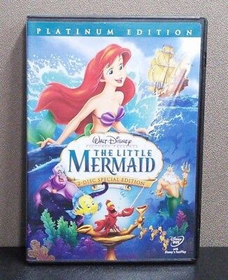 Authentic Disney: The Little Mermaid (DVD, 2-Disc  Platinum Edition)    LIKE NEW
