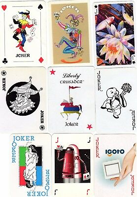 "9 Different ""Mixed"" JOKER Playing Cards #699"