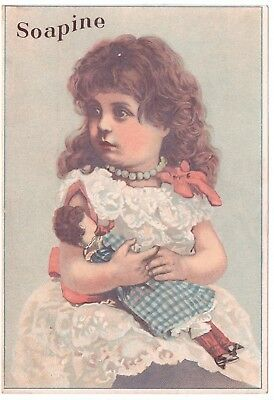 Soapine Kendall Mfg Co Co VTC Victorian Trade Card Providence RI Rhode Island a