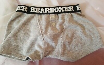 Build A Bear ~Grey Boxers Bearboxer