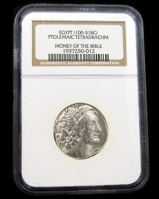 Egypt 100-51BC Ptolemaic Tetradrachm - NGC Certified Ancient Silver True Auction