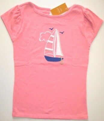 Gymboree Stripes & Anchor Top 4 5 6 or 8 New Pink Sailboat Shirt Nautical Twins
