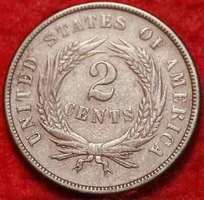 1867 Copper Philadelphia Mint Two Cent Coin Free Shipping