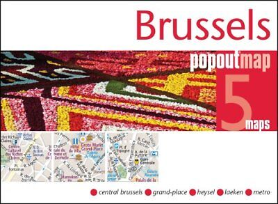 Brussels PopOut Map by PopOut Maps 9781910218433 (Sheet map, folded, 2017)