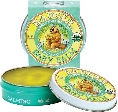 Badger Baby Balm Organic Usda Chamomile Calendula Safe Calming Mild Soothing Uk