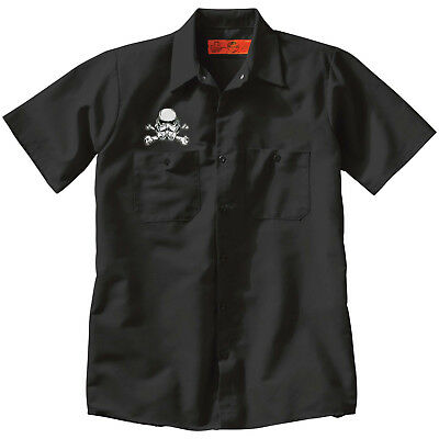 Star Wars STORM TROOPER SKULL IMPERIAL EMPIRE Button Work SHIRT Black punk
