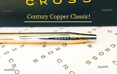 CROSS Century Copper Antimicrobial  Finish Chrome Accents Ball Point Pen New Box