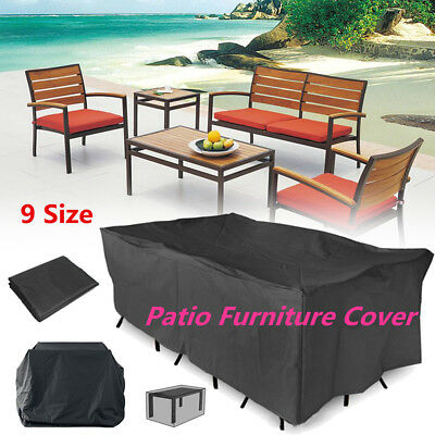 9 Size Heavy Duty Furniture Cover Waterproof Garden Patio Table Outdoor Shelter