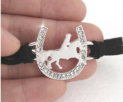 Horse & Western Jewellery Jewelry Ladies Sparkling Cowgirl  Bracelet Silver