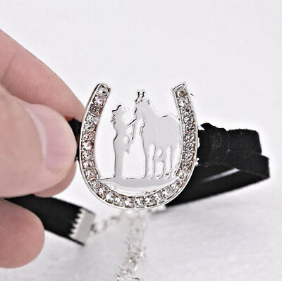 Horse & Western Jewellery Jewelry  Sparkling Cowgirl & Horse  Bracelet Silver
