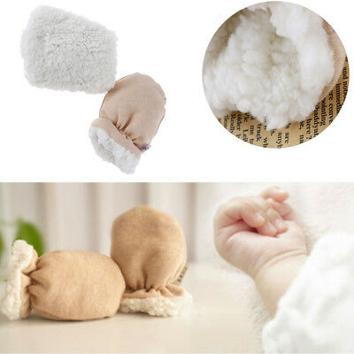 Newborn Baby High Quality Cashmere Mittens Winter Kids Gloves Warm